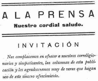 A la Prensa