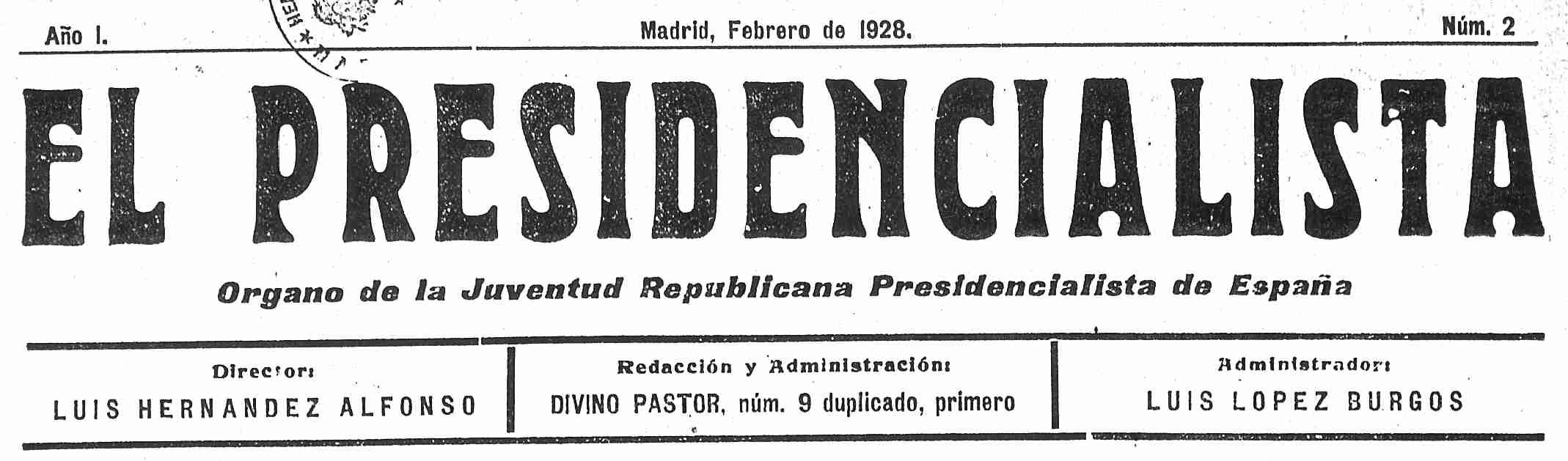 El Presidencialista, nº 2