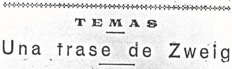 Una frase de Zweig