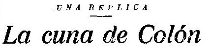 «La cuna de Colón»