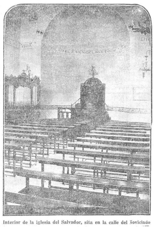 Interior de la iglesia del Salvador, sita en la calle del Noviciado