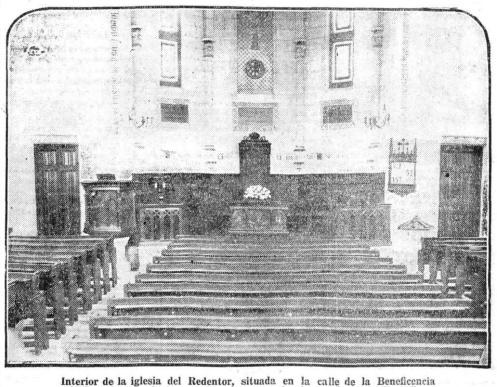 Interior de la iglesia del Redentor, situada en la calle de la Beneficencia