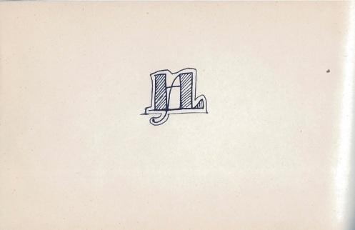 Luis Hernández Alfonso, «Ofrenda» - Anagrama final con sus iniciales